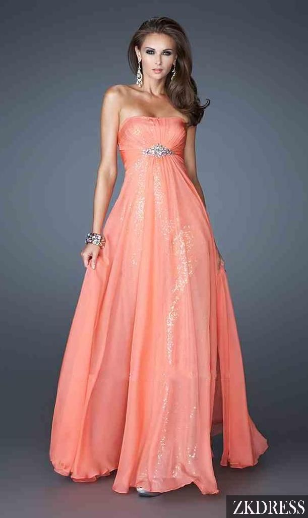pretty dress. simple... a little bit of sparkle, but not too much ...