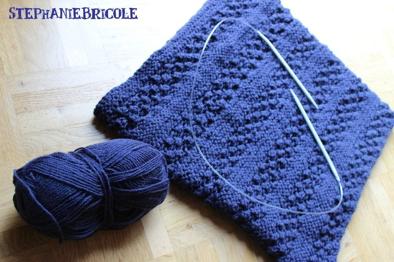 tricoter snood aiguilles circulaires