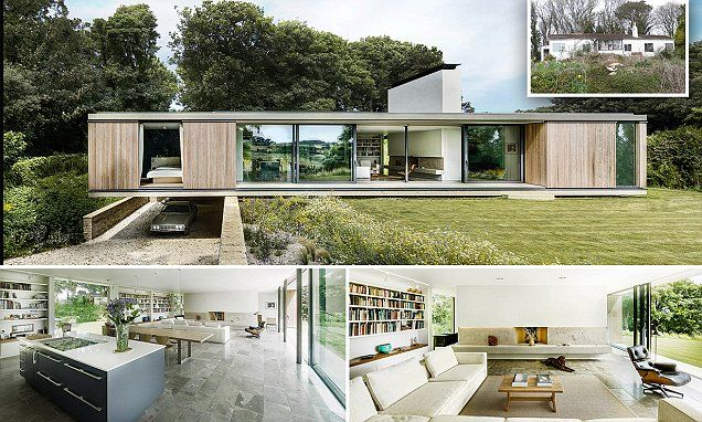 rundown bungalow in dorset has been turned into modern retirement home pictured now worth around million part of the floats and it also couple flatten tatty old  floating rh pinterest