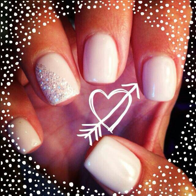simple gel nails wedding