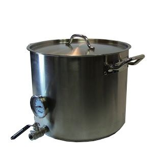 Concord Stainless Steel Homebrew Kettle 10 Gallon W Ball Valve Thermometer Home Brewing Home Brewing Beer Beer Brewing Supplies