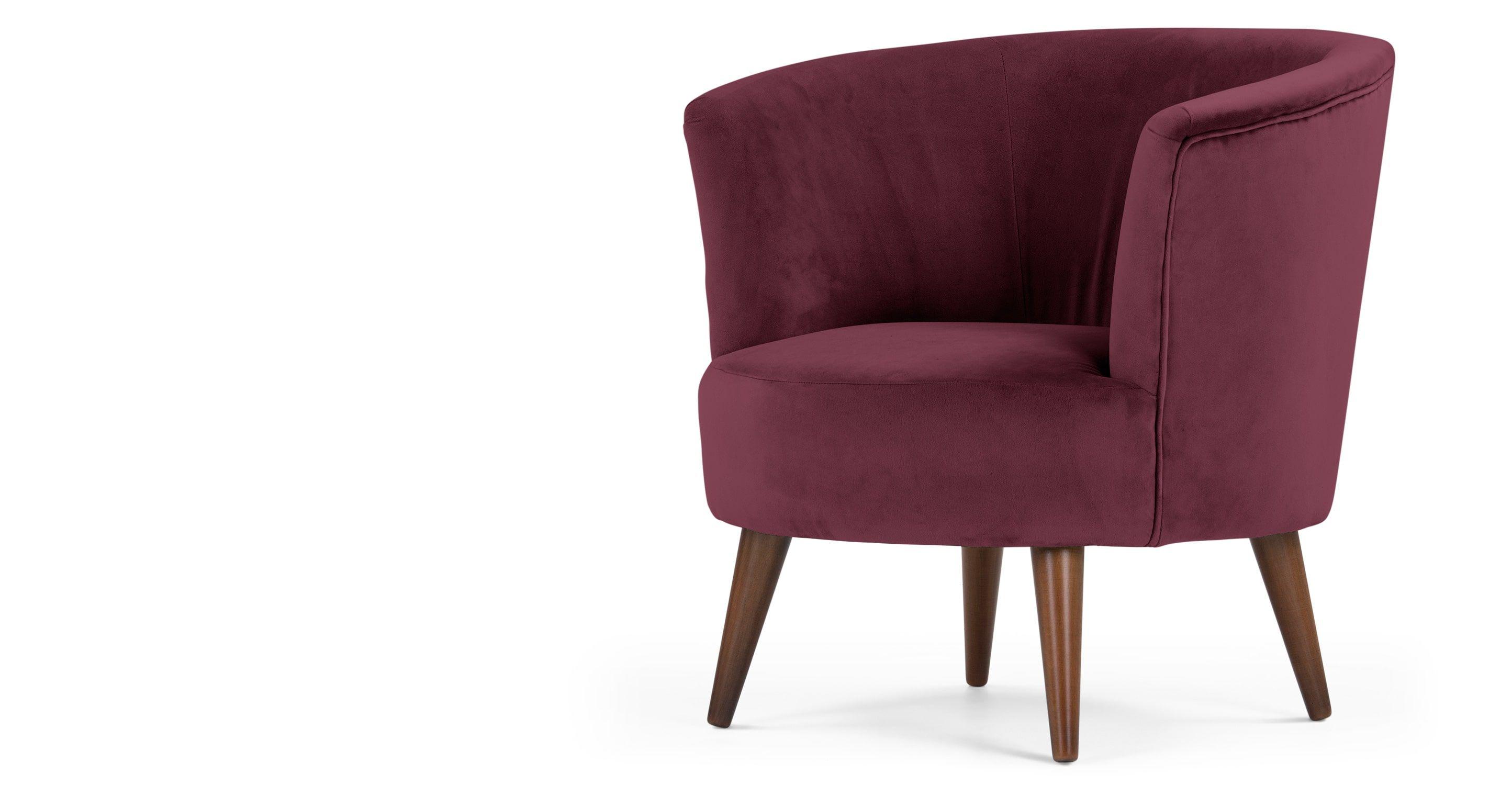 Lulu ronde stoel in Brugs bordeauxrood - Ronde stoel, Bordeauxrood ...