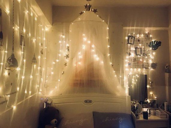 Photo of Light up Kids Canopy ,Bed Canopy | Hanging Play Ten,Nursery Decor | Mesh Baldachin,kids room decoration,Girls' room decoration