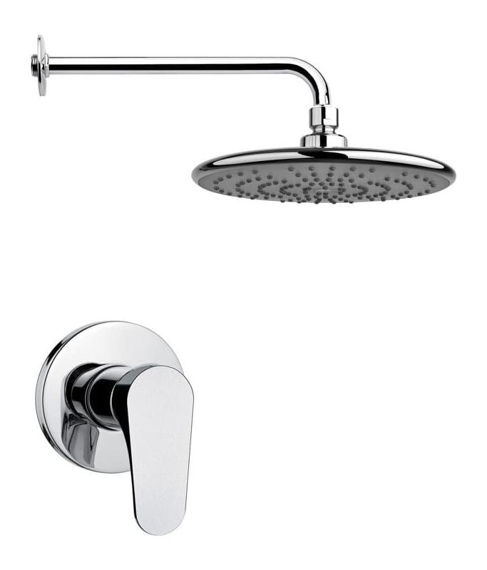 Nameeks SS1231 Remer 2.5 GPM Single Function Rain Shower Head with Valve Trim Ro Chrome Faucet Shower Only Single Handle