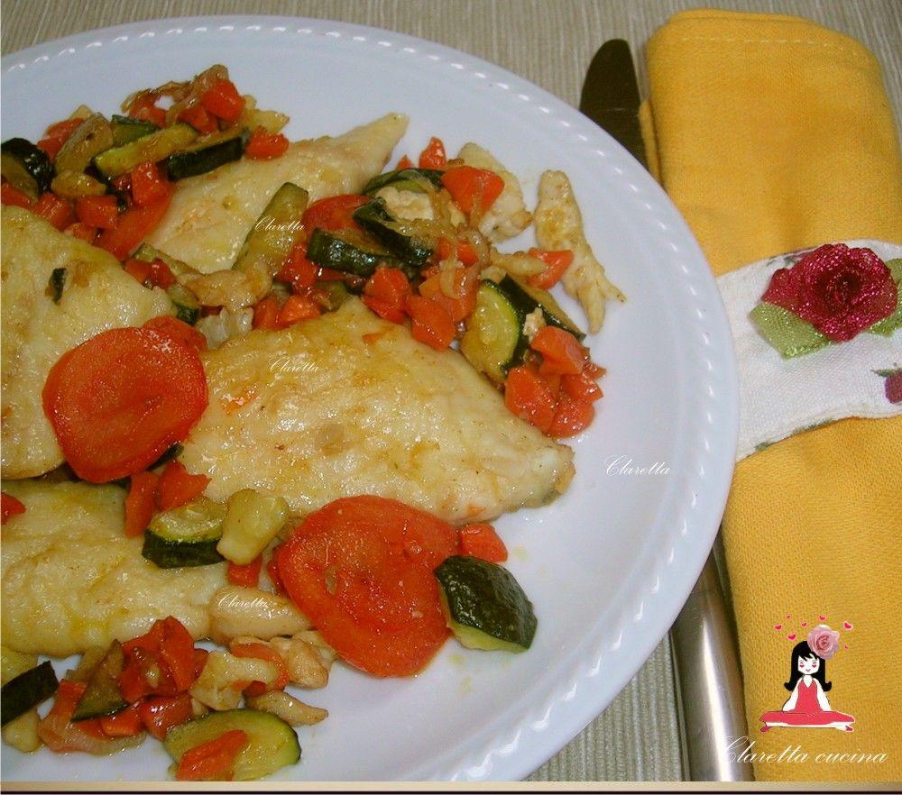 Disegno cucinare filetti di branzino : Filetti di Orata, Orata con verdure, Ricetta veloce,Filetti in ...