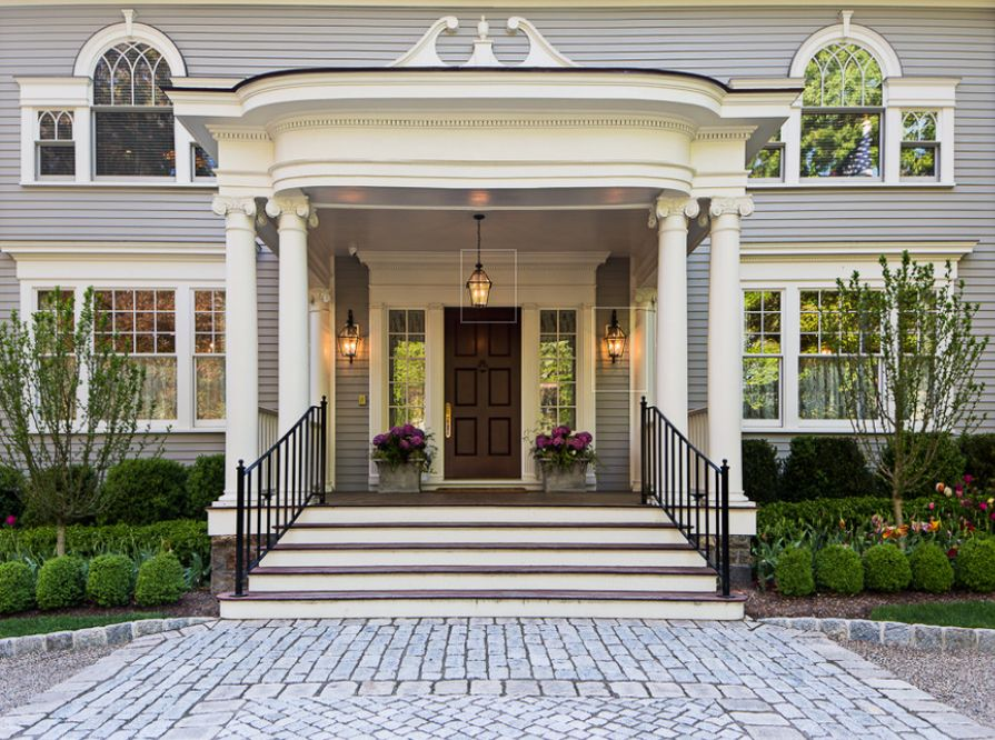 Massive And Grand This Expansive Portico Creates A Stately