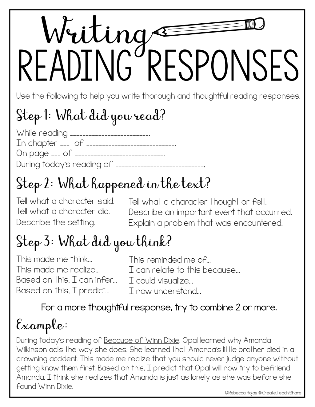 Writing Reading Responses