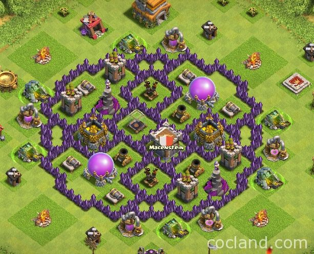 One Ring Th7 Farming Base Base Dssign Pinterest Clash Of Clans