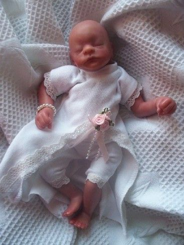 TINY BABY burial dress set MISS ELEGANCE 1-2LB burial gown funeral ...