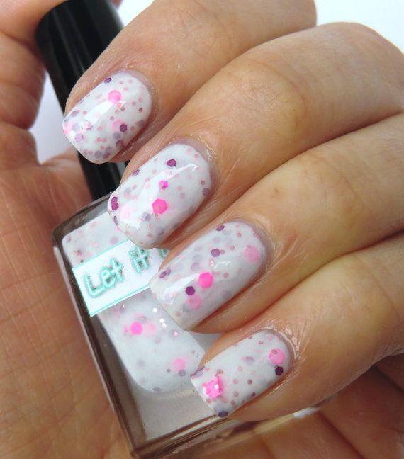 Glitter Nail Polish I Heart Neon By Let It Etsy