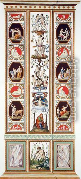 Raphael Pilaster 12). Raphael Sanzio d'Urbino (1483-1520) (after) Ludovico Teseo (intermediate draftsman) Giovanni Volpato (1740-1803) (engraver) Frescoed Pilasters from Loggia di Rafaele nel Vaticano [Loggia of Raphael in the Vatican] _BM