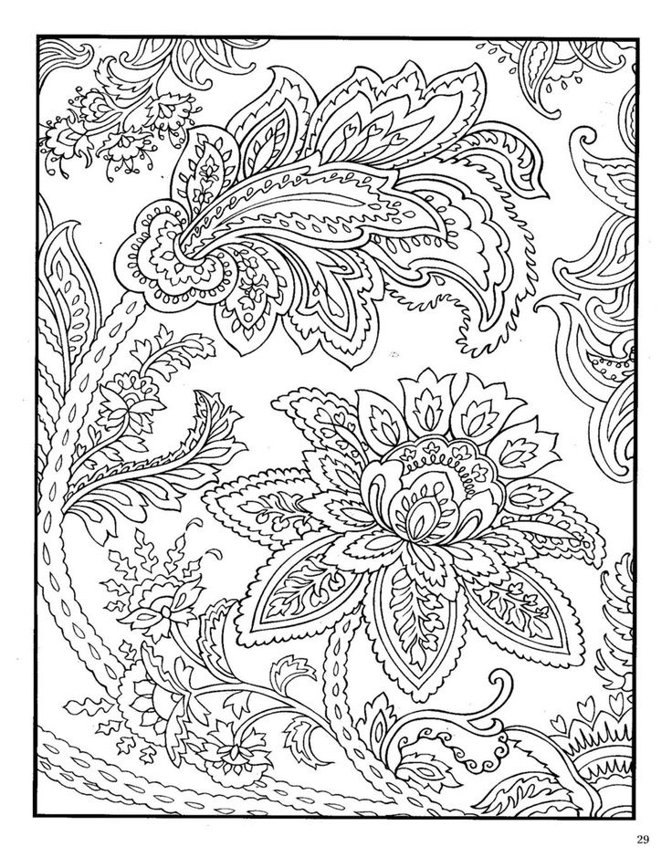 Free coloring pages round up for grown ups Paisley design