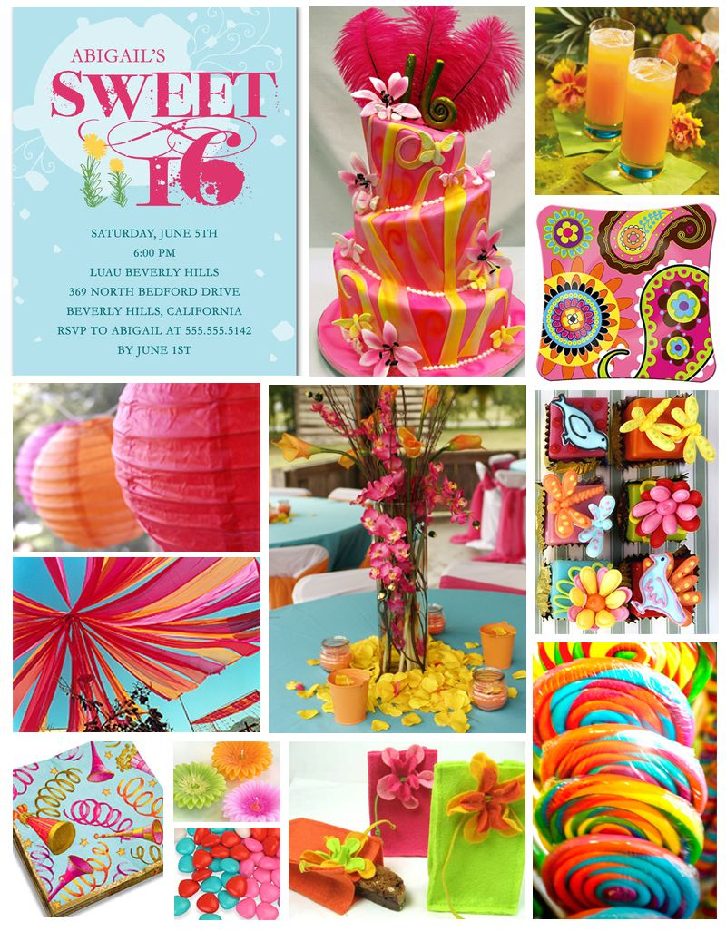 Here Are Some Ideas For A Stylish Sweet 16 Birthday Party This Tropical Color Theme Takes On An Eclectic Twist Read More