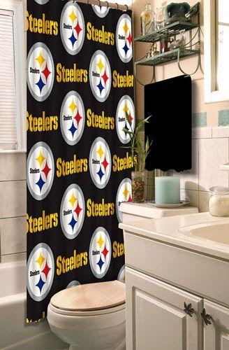 Curtain Ideas Steelers Bathroom Shower Curtain Pittsburgh Steelers Steelers Bathroom Shower Curtains
