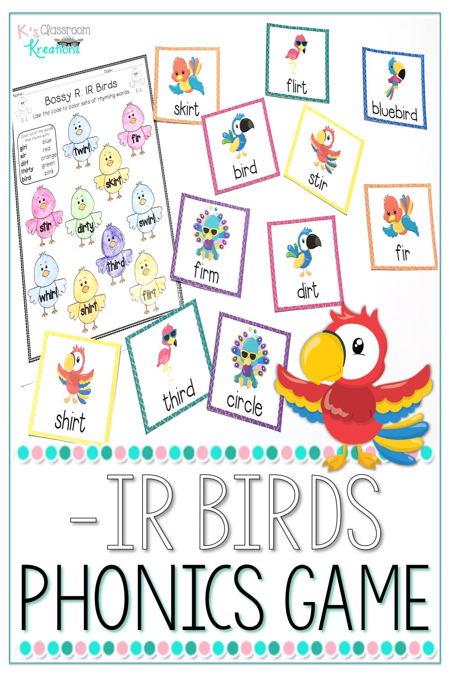 R Controlled Vowel Flash Cards