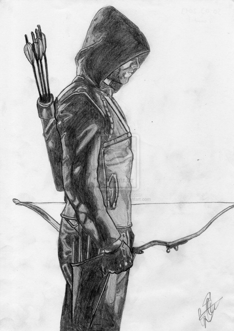 Green Arrow Tv Show Drawing Google Search Flash Desenho