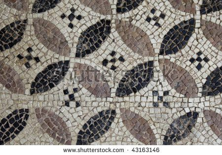 stock photo : Greece, ancient Corinth, mosaic in the museum
