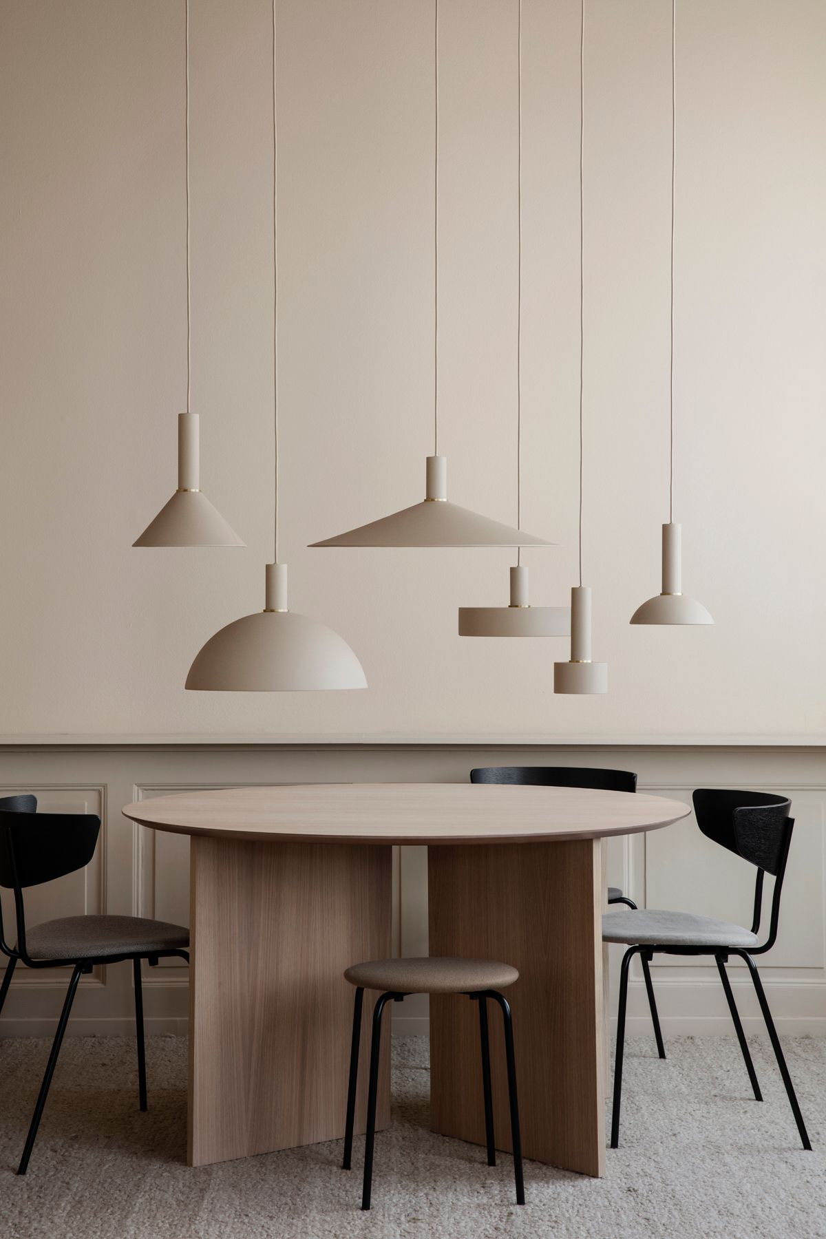 Shades Herman Chair Herman Stool And Oval Mingle Table Top By Ferm Living Office Interior Design Interior Pendant Lamp Shade