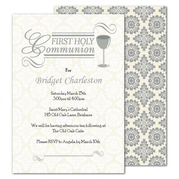 holy communion invitations card
