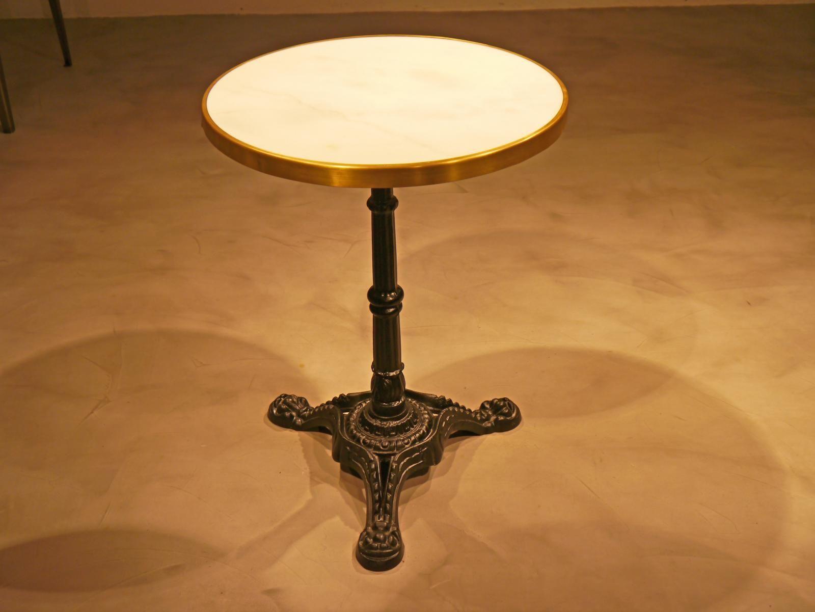 Base de mesa de pie central fundición de hierro con cruceta de ...