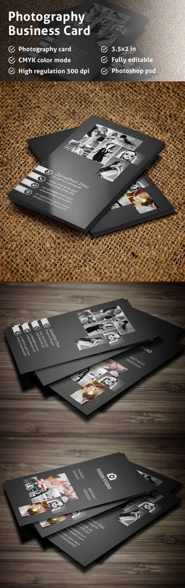 Free Photography Business Card on Behance | business card ...