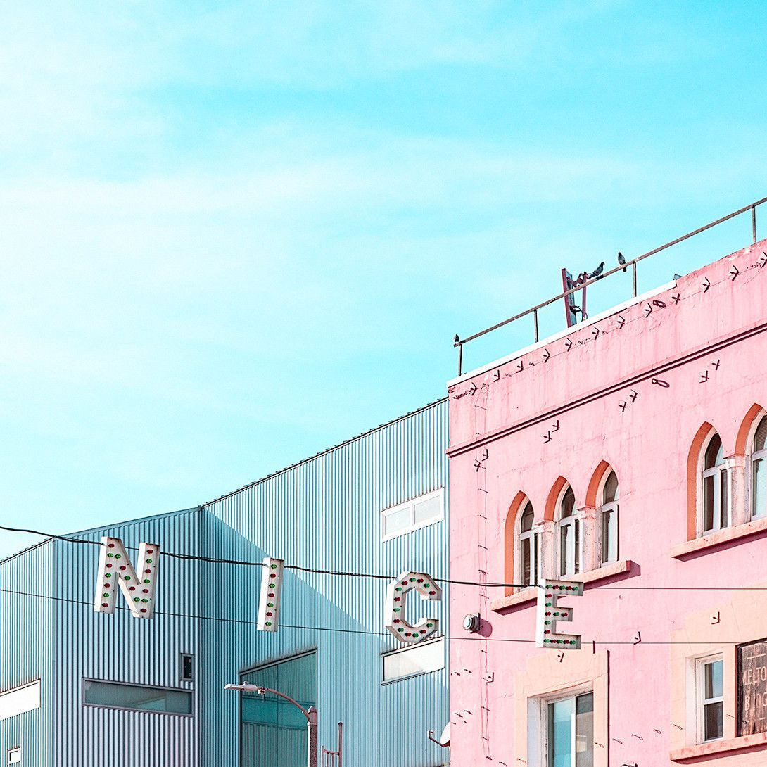 Download 210+ royalty free aesthetic building vector. Nice 2 | Blue aesthetic, Aesthetic wallpapers, Pink aesthetic