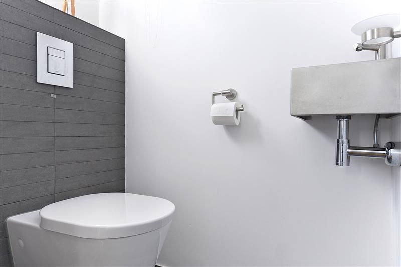 Modern toilet met strakke afwerking en kleuren toilet