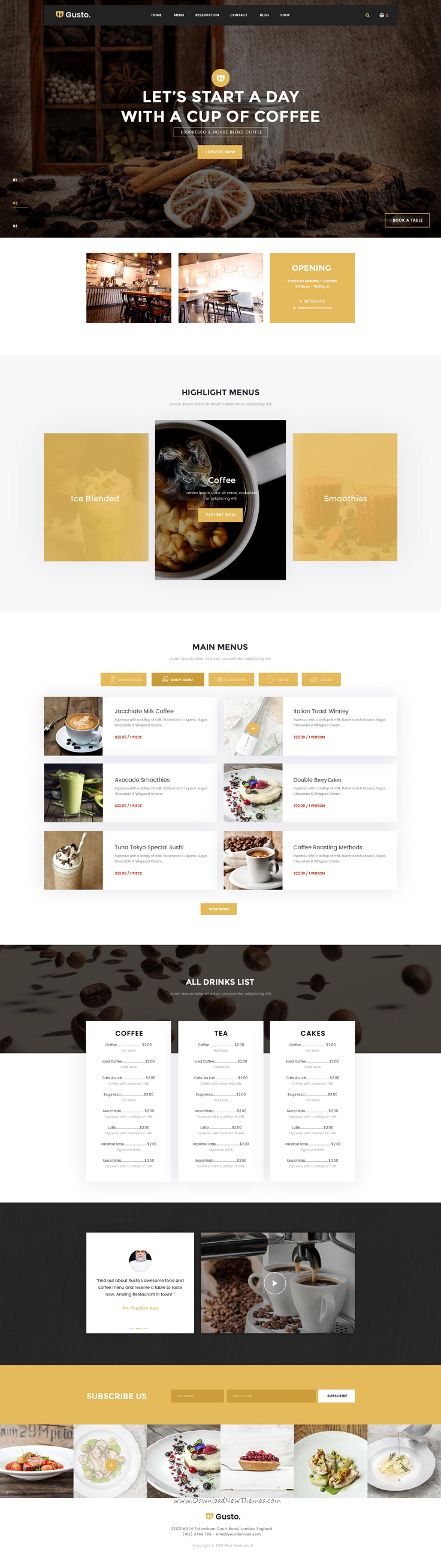 Gusto is a wonderful 9 in 1 PSD template for #coffee #café, bar or seafood restaurant #website download now➝ https://themeforest.net/item/gusto-restaurant-caf-bar-seafood-restaurant-psd-template/16815594?ref=Datasata