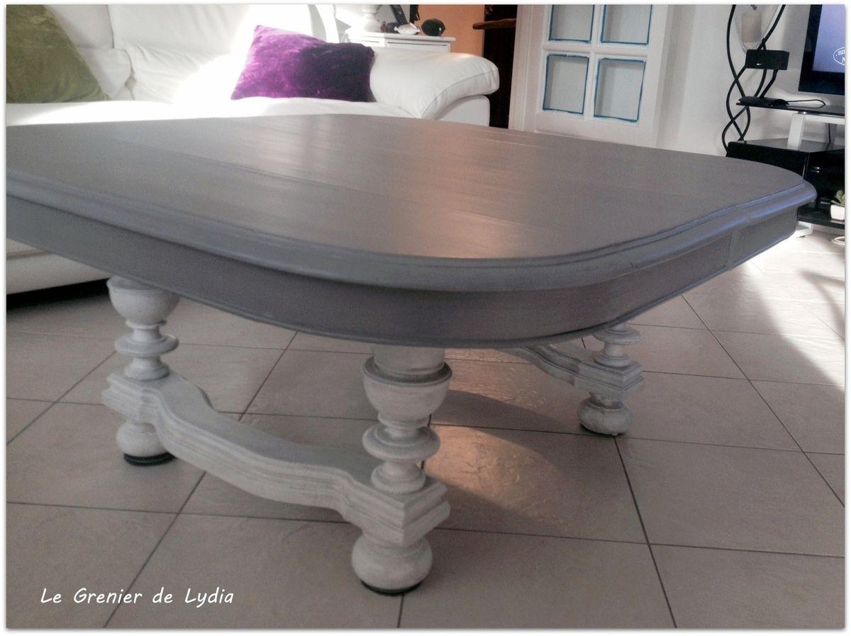 Cette ancienne table de salle a manger avait besoin de s for Idee deco cuisine avec meuble blanc ceruse salle a manger