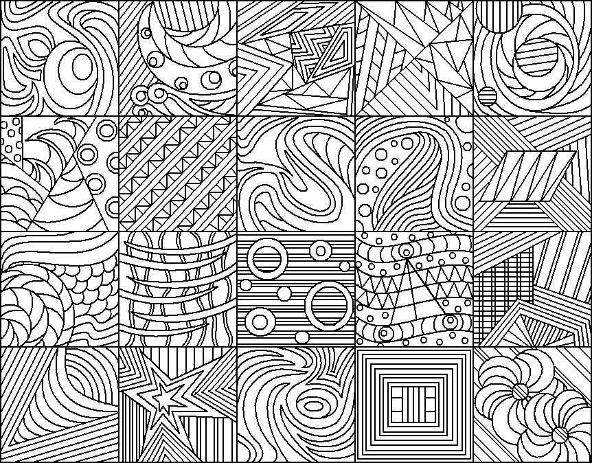 Different Art Designs : Different line patterns