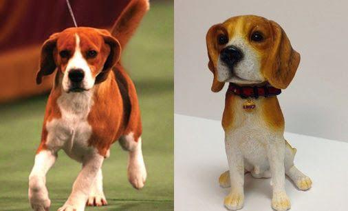 Uno The Beagle Bobblehead Supports Angel On A Leash Beagle