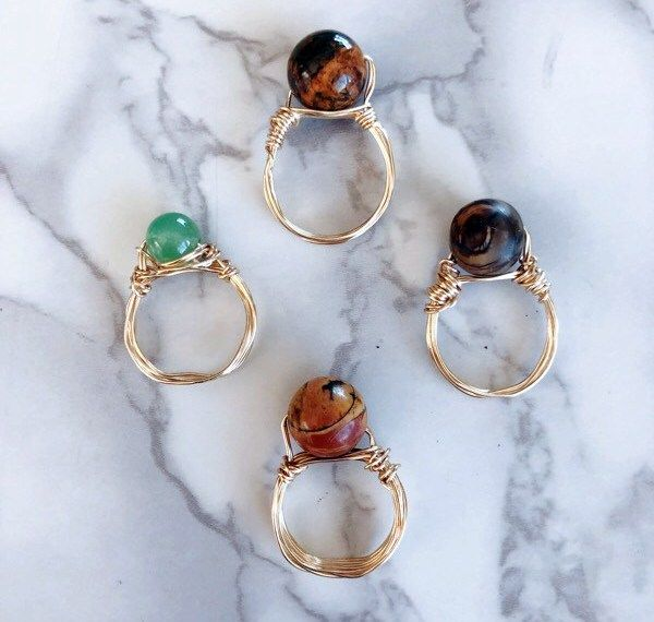 How to Make Stone & Wire Wrapped Rings – Creative Fashion Blog
