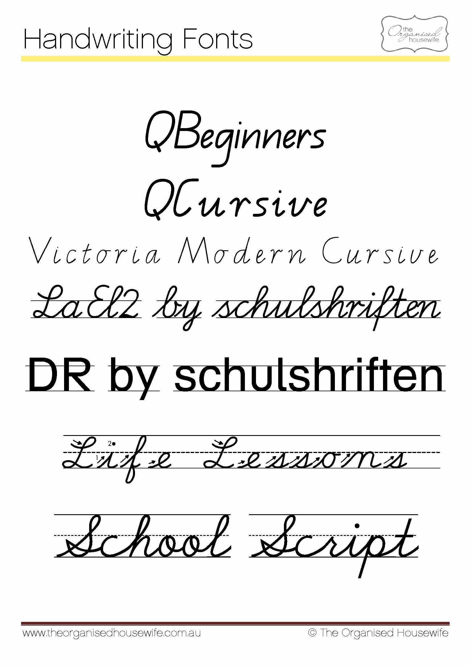 14 New Cursive Alphabet Handwriting