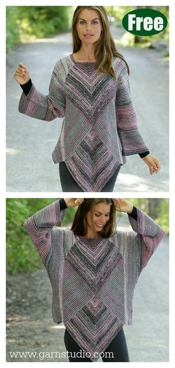 Diamond Cut Sweater Free Knitting Pattern #startknittingfreepattern #knittingsweater #knittingsweater