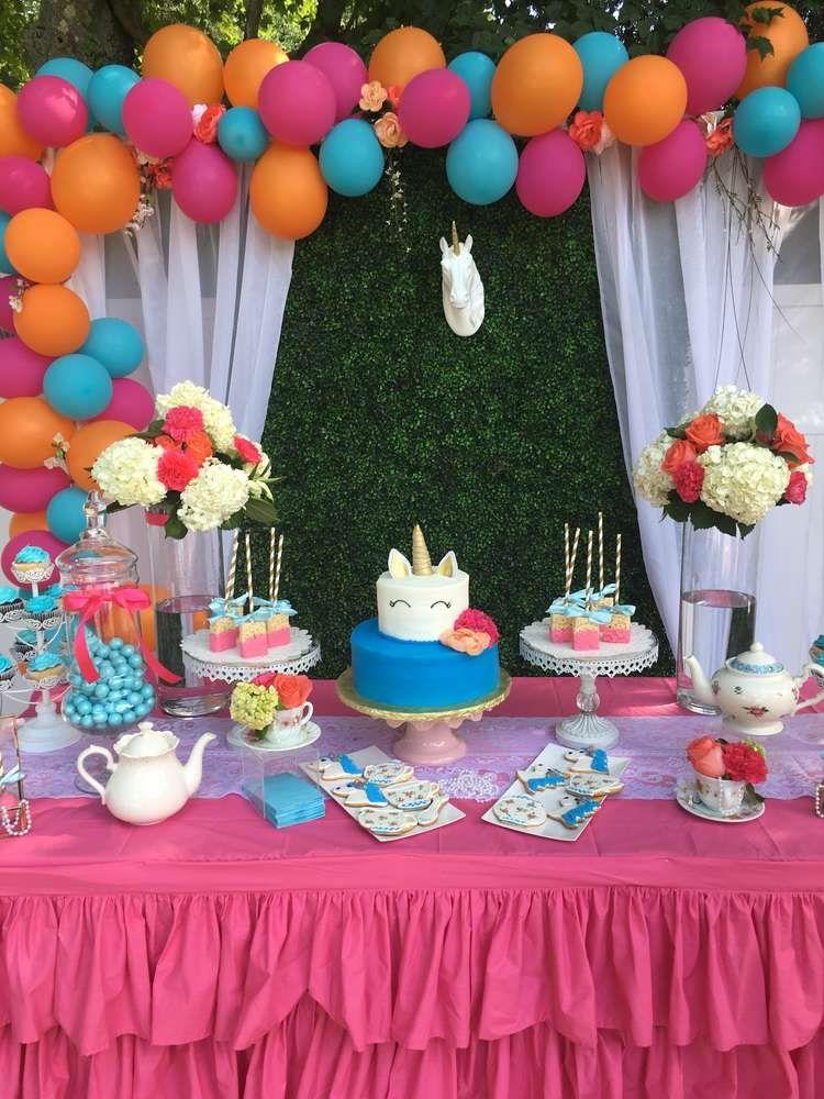Tea Party Unicorn Birthday Party Ideas Photo 1 Of 8 Unicorn Birthday Parties Tea Party Birthday Birthday Parties