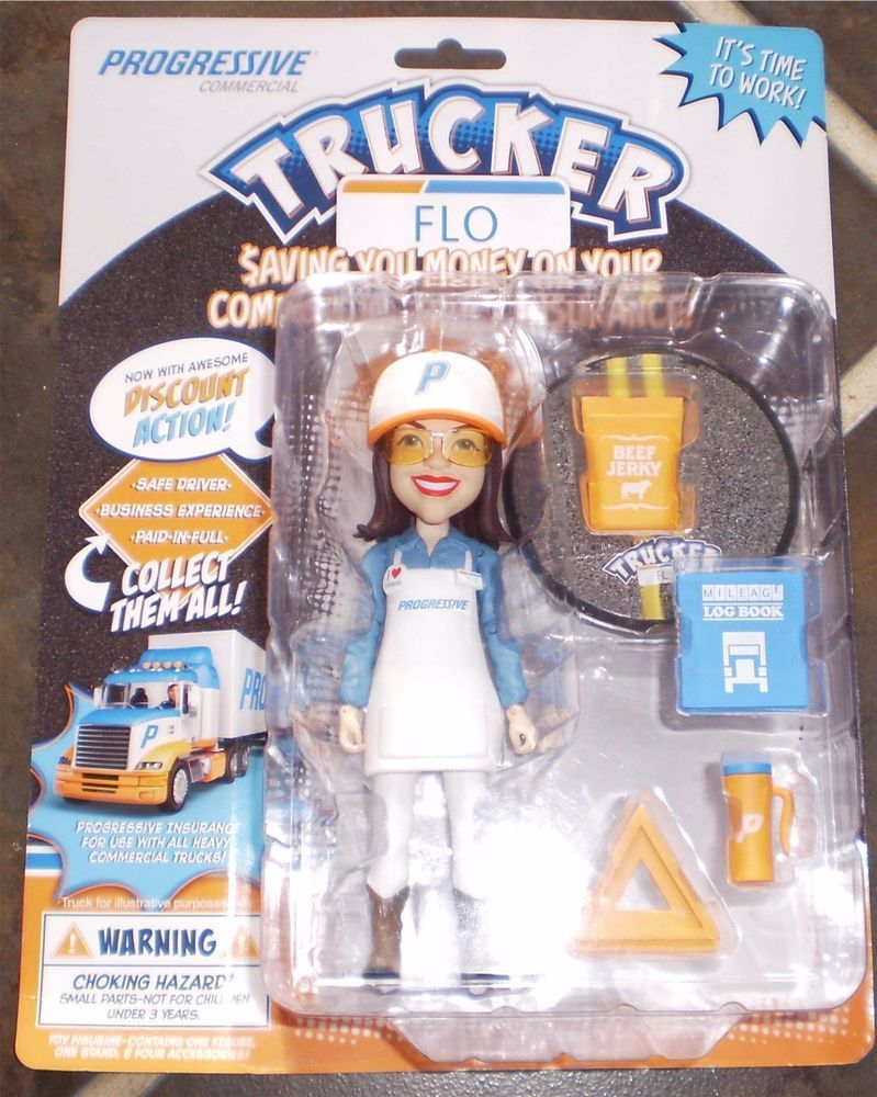 Progressive TRUCKER FLO Action Figure With Accessories