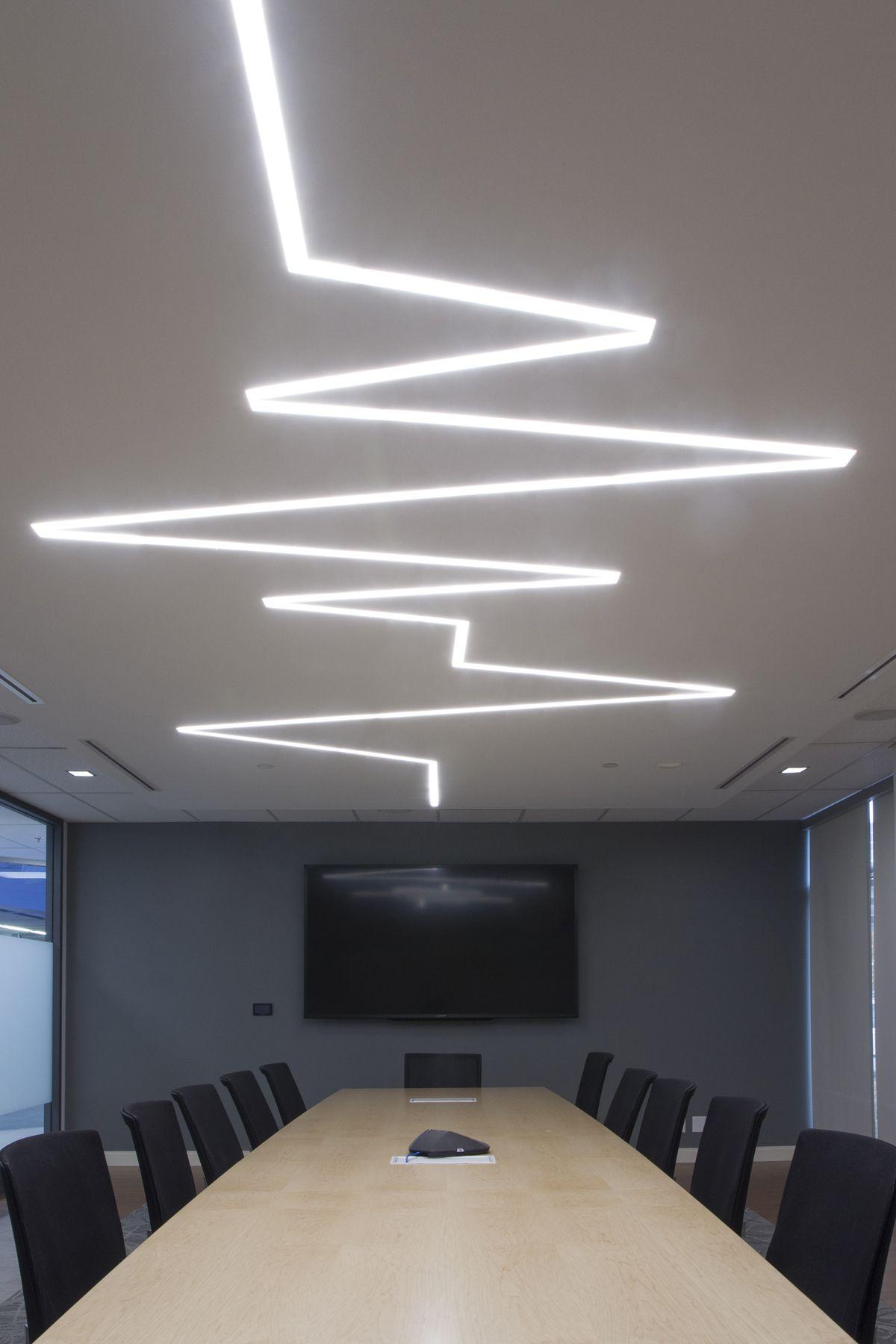 Office hallway lighting  Dräger Canadian office Lübeck Board Room We designed this
