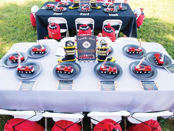 Adorable Sound the Alarm Firehouse Birthday Party Birthdays