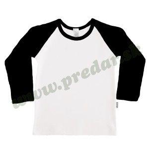 Tričko raglánový dlhý rukáv biele telo