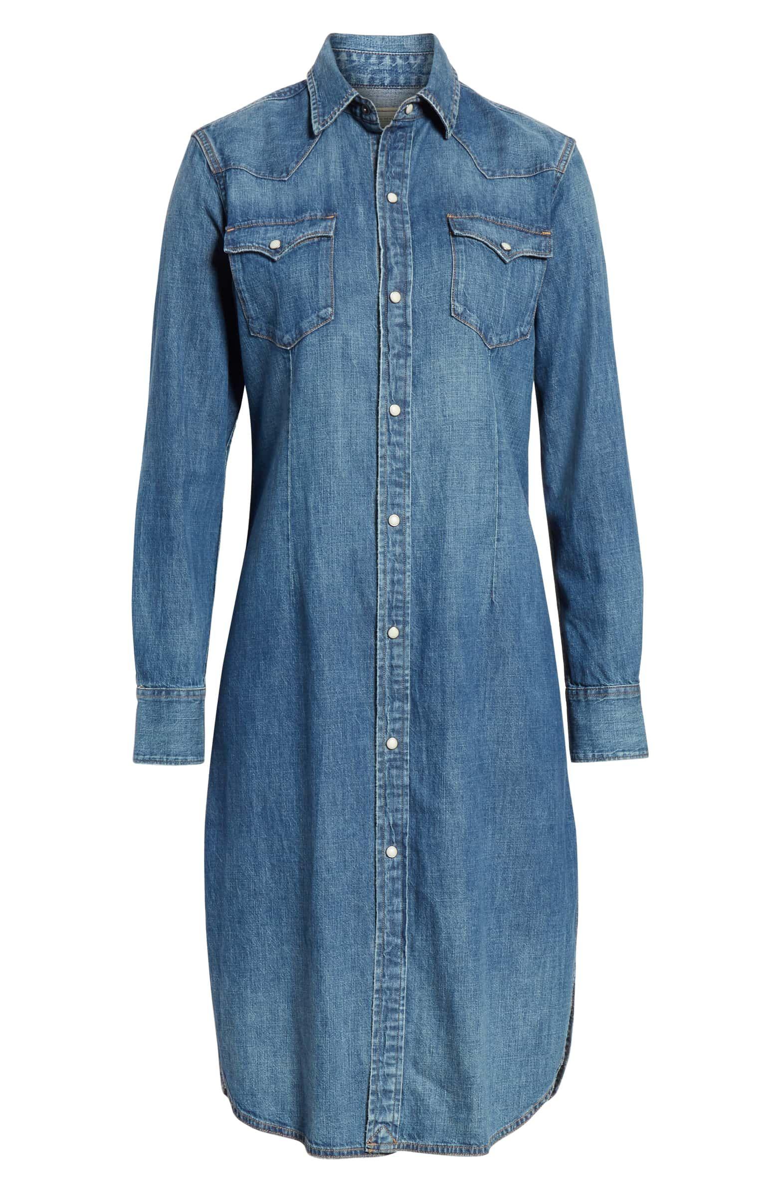 Polo Ralph Lauren Denim Shirtdress   Nordstrom   Roupas, Looks ...