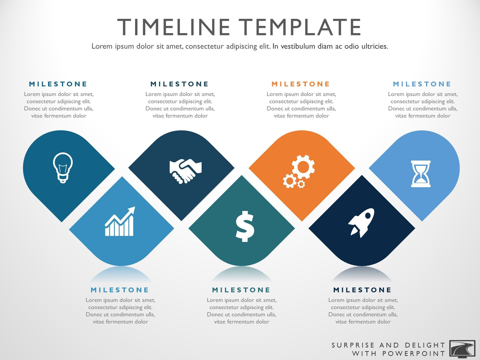 Seven Phase Visual Timeline Template (With images