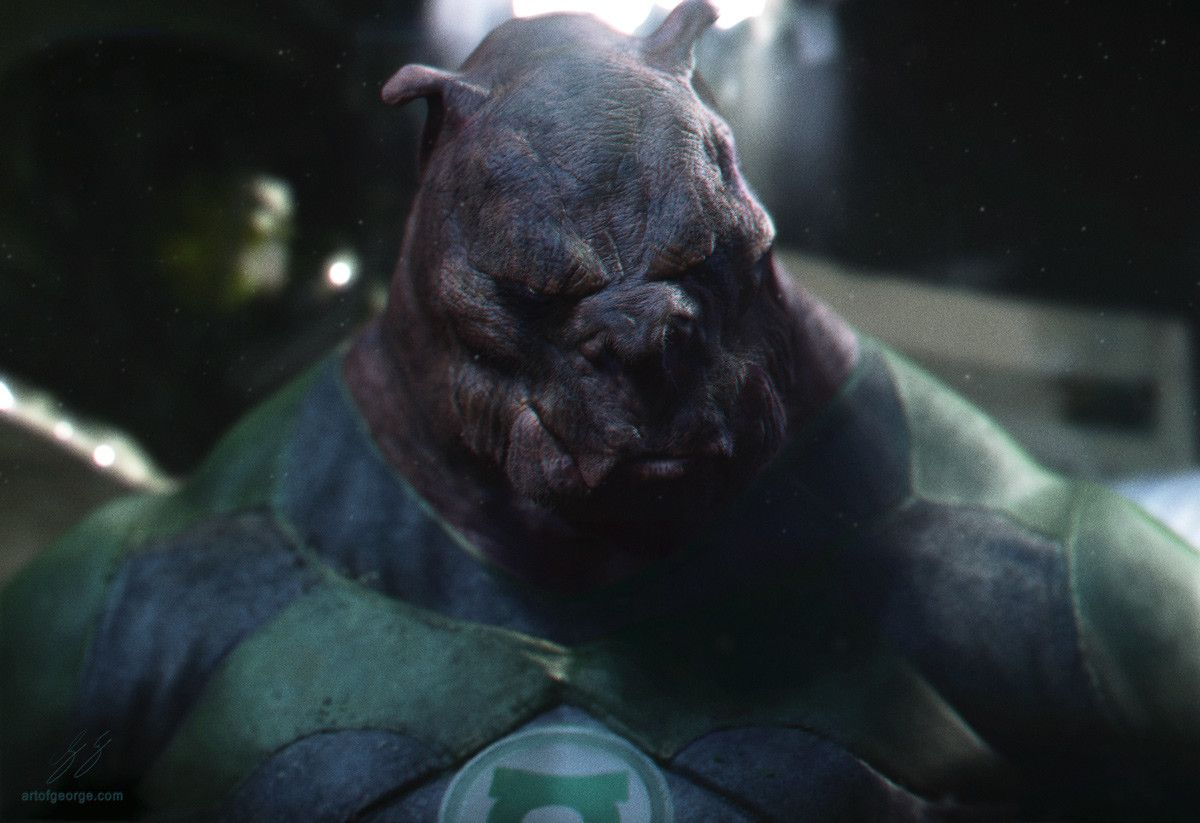 Kilowog Portrait, George Evangelista on ArtStation at https://www.artstation.com/artwork/XaWPL