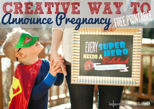 17 Best images about Announcing Pregnancy Ideas – Cute Ways to Announce a Baby