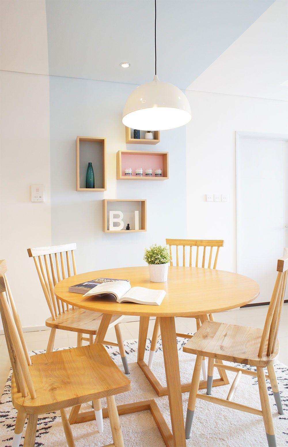Apartment Design Jakarta modern scandinavian dining interior, apartment in jakarta