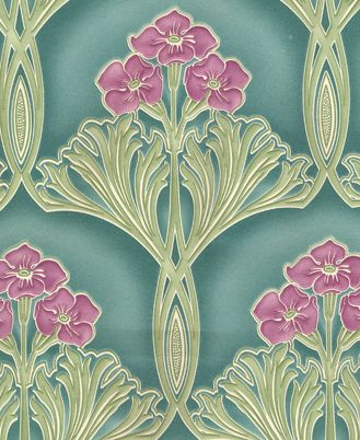 Some gorgeous art nouveau wallpaper. Oh if I could just find this stuff somewhere!