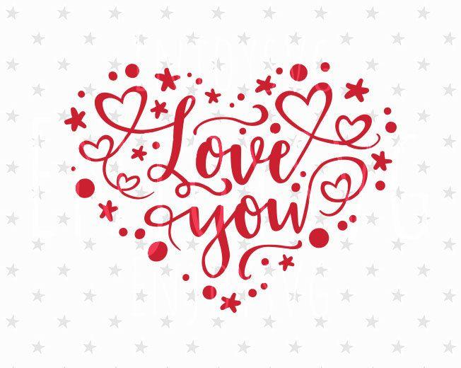 Download Love you svg Love you svg file Valentines day Svg Heart ...