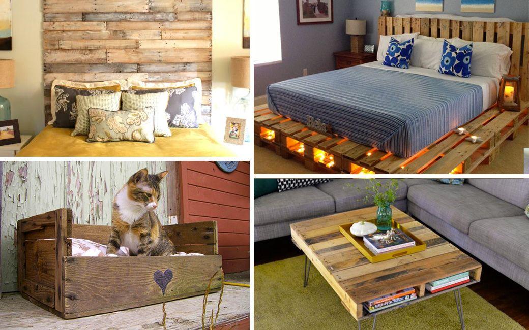 Riciclo dei pallet 48 idee per creare mobili con bancali for Pallet arredamento