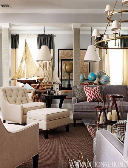 Hamptons Real Estate Showcase: Traditional Home Magazine, Home, Family Room