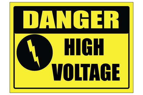 Printable High Voltage Signs In Yellow And Black Free Download Printable Signs Yard Sale Printables High Voltage