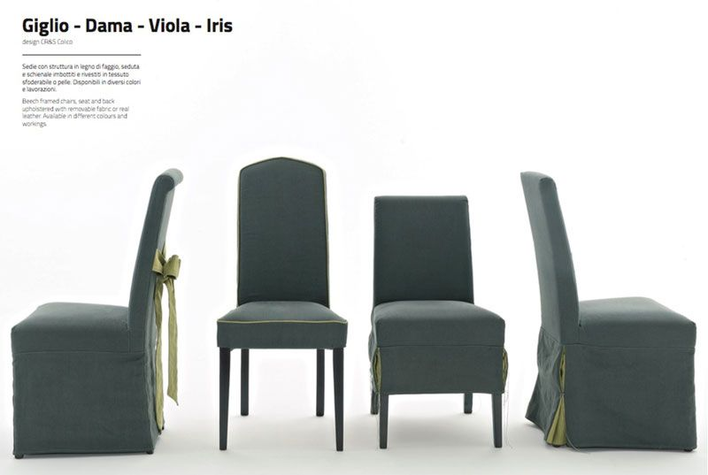 Giglio Dama Viola Iris Sedie By Colico Arredamento Camerette Design